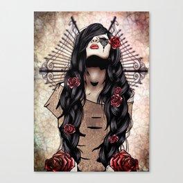 Rosa Finite Canvas Print