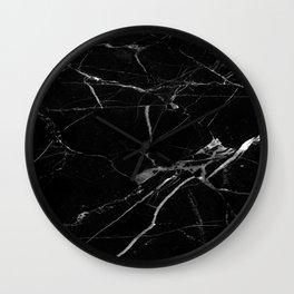 modern black marble look Wall Clock