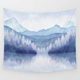Winter Atmosphere Wall Tapestry
