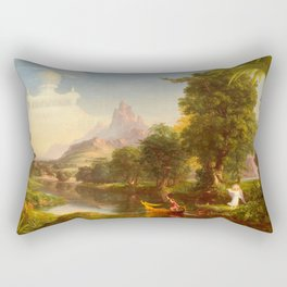 Thomas Cole - The Voyage of Life Youth, 1842 Rectangular Pillow