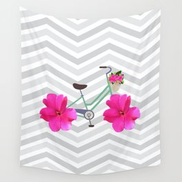 Petal Pusher Bike Wall Tapestry