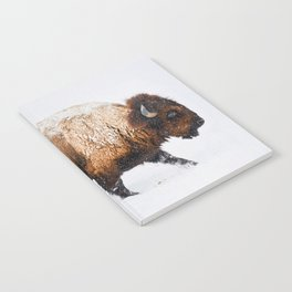 Buffalo In The Snow Notebook