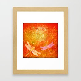 Dragonflies the forgotten clearing Framed Art Print