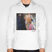 gustav klimt Hoodies featuring Death and Life by Gustav Klimt by cvrcak