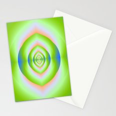 Green Pink and Blue Labyrinth Tunnel Stationery Cards