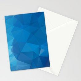Gradient Blue Geometric Mosaic Pattern Stationery Cards