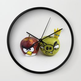 Angry Apples Wall Clock