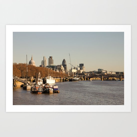 London at sunset Art Print