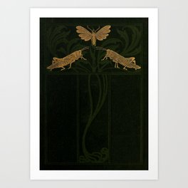 Art Nouveau Insects Art Print