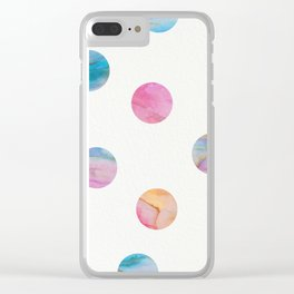 Marble Polka Dots Clear iPhone Case