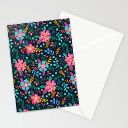 Beautiful colorful flowers Stationery Cards