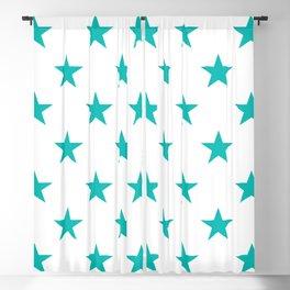 Stars (Eggshell Blue/White) Blackout Curtain
