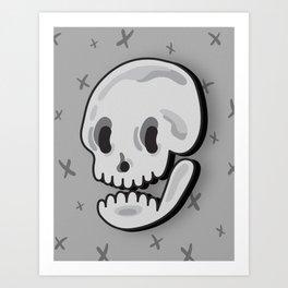 Skull (vector) Art Print