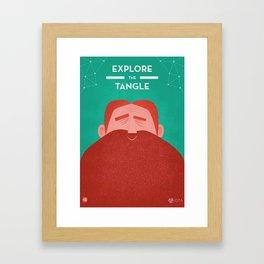 IOTA - Explore the Tangle II Framed Art Print