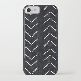 Mudcloth Big Arrows in Black and White iPhone Case