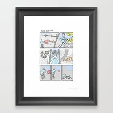 Bike Cop Returns Framed Art Print
