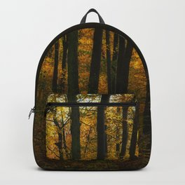 Sunset in the autumn forest Backpack