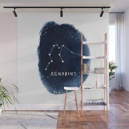 Aquarius Constellation Horoscope Wall Mural
