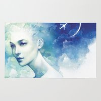 flight Area & Throw Rugs featuring Flight by Anna Dittmann