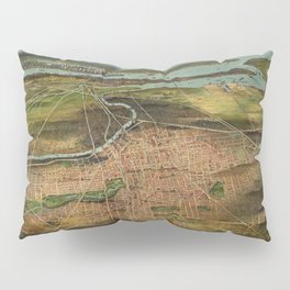 Map Of Newark 1916 Pillow Sham