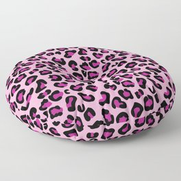 Leopard-Pink+Black+Purple Floor Pillow