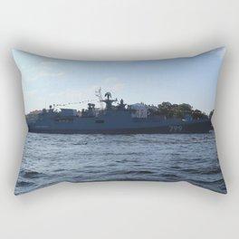 "The military ship ""Admiral Makarov"" 799. The Neva River. Rectangular Pillow"