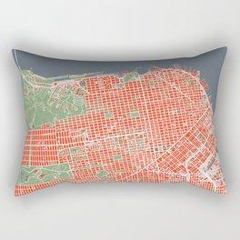 San Francisco city map classic Rectangular Pillow