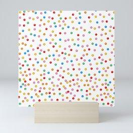 Rainbow Gumballs White Mini Art Print