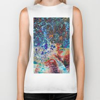 splatter Biker Tanks featuring Splatter by Stephen Linhart