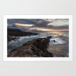 Long Exposure Sunset in El Sauzal Art Print