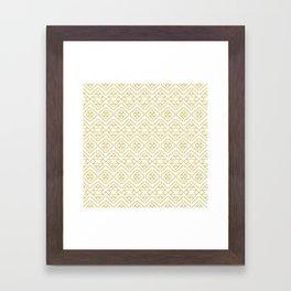 Boho Campfire - Gold Framed Art Print