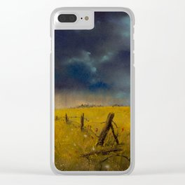 Rolling Thunder Pastel Art Print Clear iPhone Case