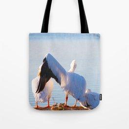 Pelican Wooing I Tote Bag