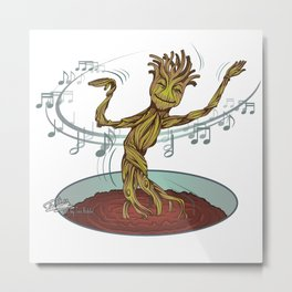 Guardians of the Galaxy - Dancing Baby GROOT Metal Print
