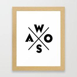 WOSA - World of Street Art Framed Art Print