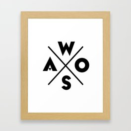 WOSA - World of Street Art Framed Art Print