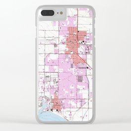 Vintage Map of Oxnard California (1949) Clear iPhone Case