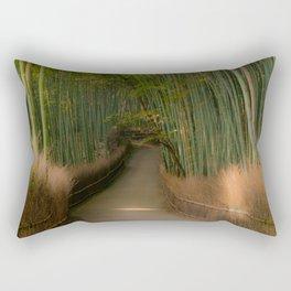 Serenity in green Rectangular Pillow