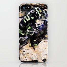 Wild Ride - Motocross Rider iPhone Case