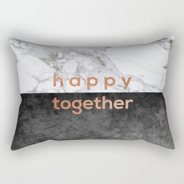 Happy Together Copper Rectangular Pillow