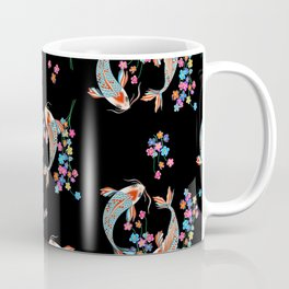 Koi fish and flowers Coffee Mug