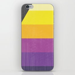 And Now The Weather - Retro Lines iPhone Skin