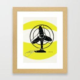 Retro Fan Art Print Framed Art Print