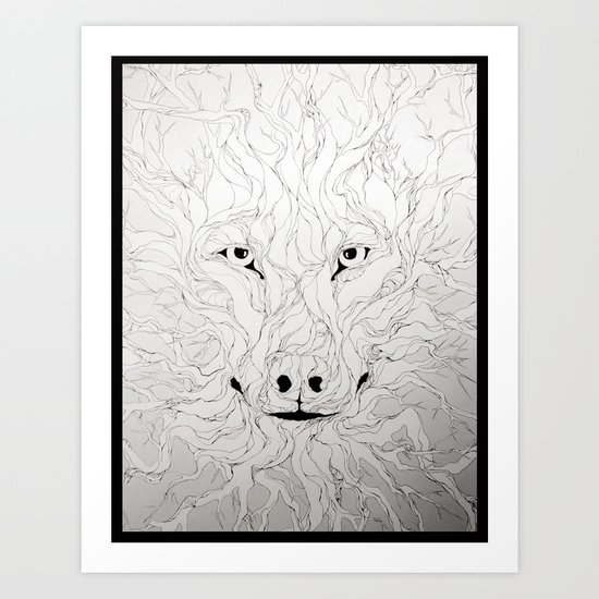 Wolfs wood Art Print