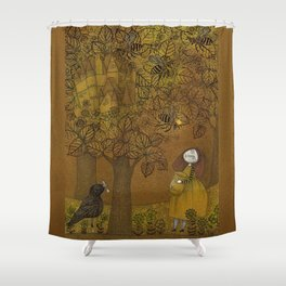 The Queen of Bees and the Princess who loved Honey Shower Curtain