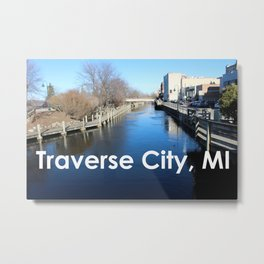 Traverse City, Michigan - Boardman River Metal Print