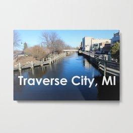 Traverse City, Michigan - Boardman River Metal Print
