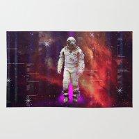 interstellar Area & Throw Rugs featuring Interstellar by Tony Vazquez