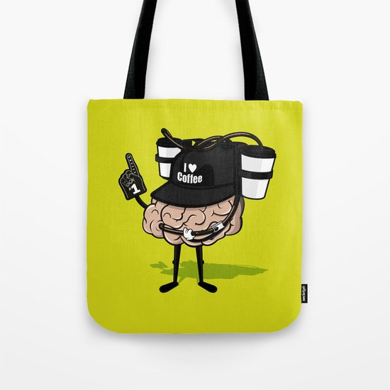 He loves coffee a lot!!!! Tote Bag