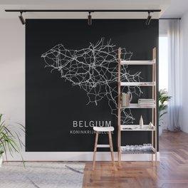 Belgium Road Map  Wall Mural